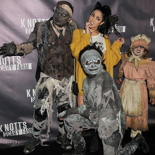October 1: Trick or Treat! Vanessa Hudgens had some fun at the Knot's Scary Farm kick off event in Buena Park, California. 