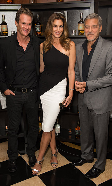 October 1: Amigos forever! Rande Gerber, Cindy Crawford and George Clooney celebrated their success during the Casamigos tequila and Cindy Crawford's 'Becoming' book launch party in London.