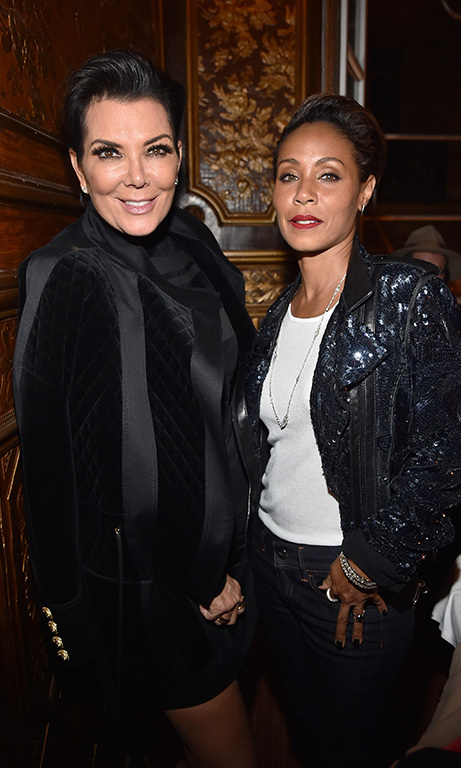 October 1: Hot mamas! Kris Jenner and Jada Pinkett Smith looked stunning during the Balmain Paris after party.