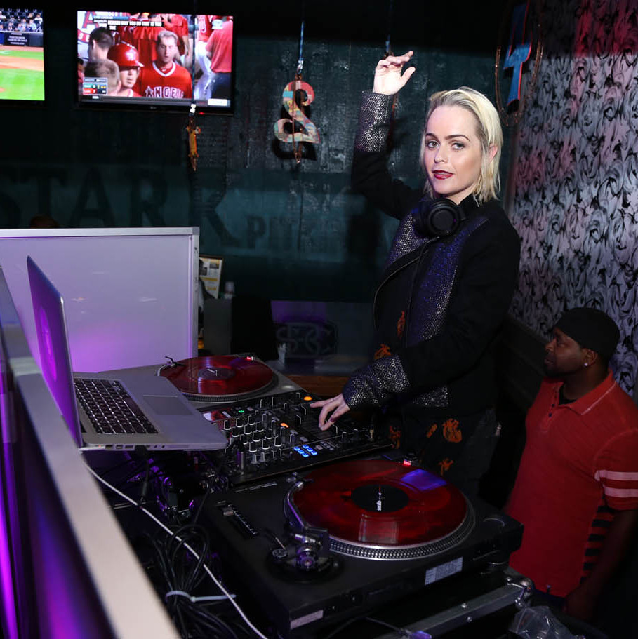 September 30: 'Orange is the New Black' star Taryn Manning played DJ during Bounce Sporting Club's 4th anniversary in NYC. 