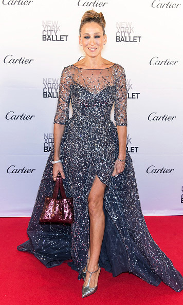 September 30: Sarah Jessica Parker dazzled and showed a little leg while attending the NYC Fall Ballet Gala.
