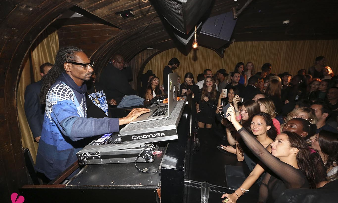 September 30: Snoop Dogg aka DJ Snoopadelic kept the crowd including Scott Disick moving during his set at NYC hot spot 1OAK.