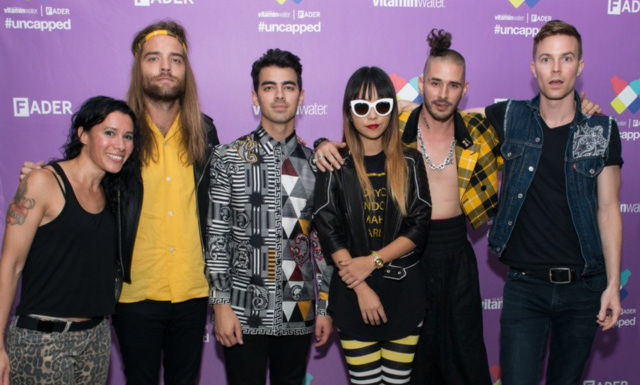 September 29: Joe Jonas and his new band DNCE performed and celebrated Vitamin Water's 5th anniversary at the Fader's #uncapped concert in New York City.