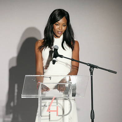 September 29: Naomi Campbell merged her two worlds, fashion and giving back, during the Fashion 4 Development  First Ladies luncheon in NYC. 
