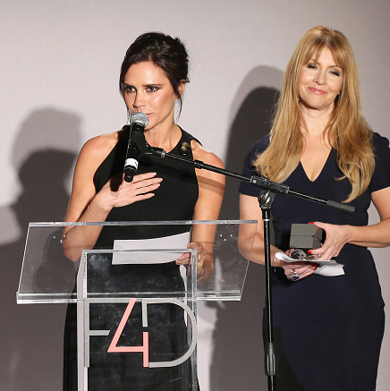 September 29: Victoria Beckham shared a few words on stage at the 5th annual Fashion 4 Development First Ladies Luncheon in NYC.