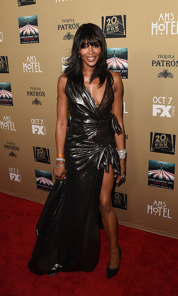 October 3: Naomi Campbell showed some leg on the 'American Horror Story' carpet in L.A.