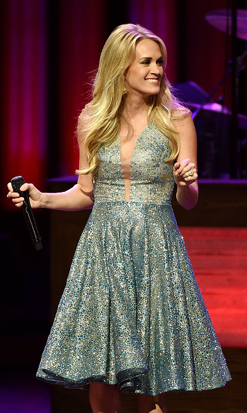 October 3: Carrie Underwood sparkled during the Grand Ole Opry's 90th birthday concert in Nashville.