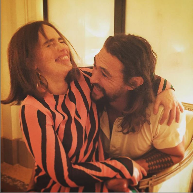 October 3: Emilia Clarke and Jason Momoa had a 'Game of Thrones' reunion in Paris.