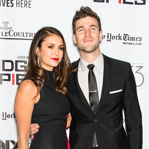 October 4: Nina Dobrev and Austin Stowell made their red carpet debut as a couple at the 'Bridge of Spies' screening during the New York Film Festival.