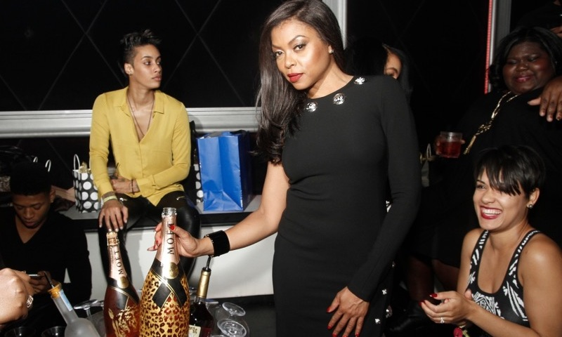 October 3: Taraji P. Henson continued her birthday celebration with 'Empire' cast members Bryshere Y. Gray, Grace Gealey, Trai Byers, Kaitlin Lyon and Gabourey Sidibe at Studio Paris in Chicago where the group sipped Moët Nectar Impérial Rosé.
