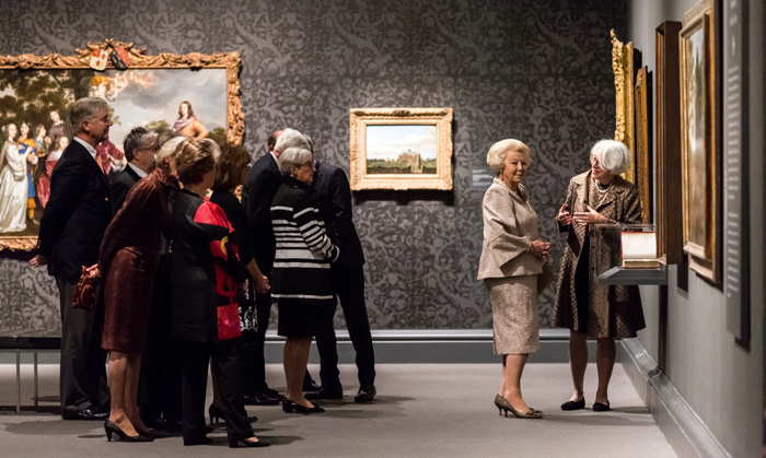 "Queen Beatrix of the Netherlands made the trip across the pond to visit the ""Class Distinctions: Dutch Paintings in the age of Rembrandt and Vermeer"" at the Museum of Fine Arts in Boston.