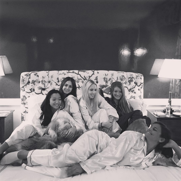 Girls just want to have fun! And that is exactly what Princess Olympia of Greece and her friends looked like they were doing when they enjoyed a sleepover this week in NYC.