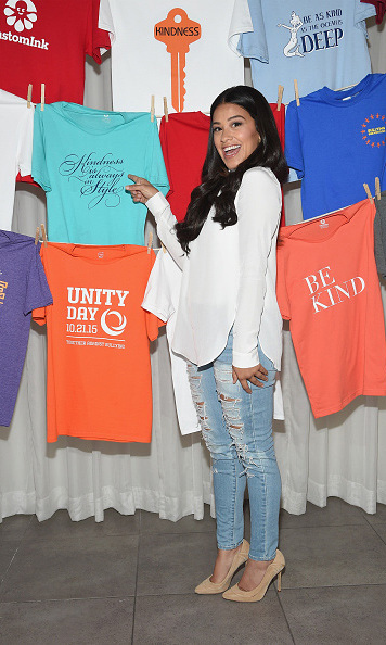 October 8: 'Jane the Virgin' star Gina Rodriguez had some fun during the CustomInk's: Be Good To Each Other Bullying Prevention campaign event in New York City. 