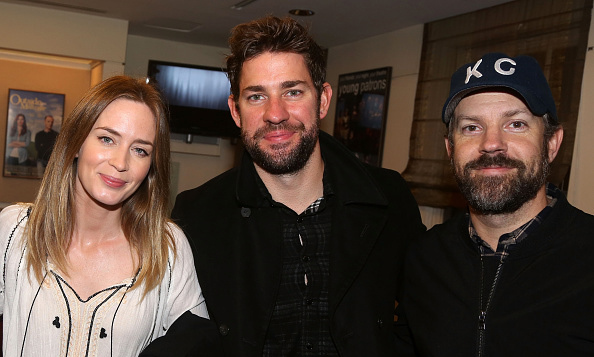 October 8: BFFs! Emily Blunt, John Krasinski and Jason Sudeikis attended opening night of Broadway's 'Fool in Love."