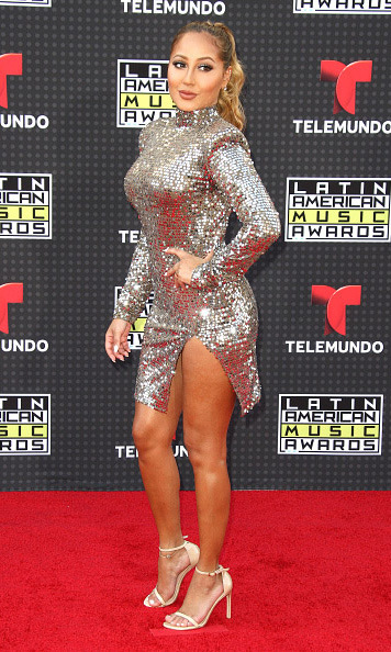 October 8: Working it! 'The Real' host Adrienne Bailon looked fierce during the Latin American Music Awards in Los Angeles. 