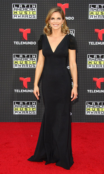 October 8: Natalie Morales looked stunning in an all black gown during the Latin American Music Awards in Los Angeles. 