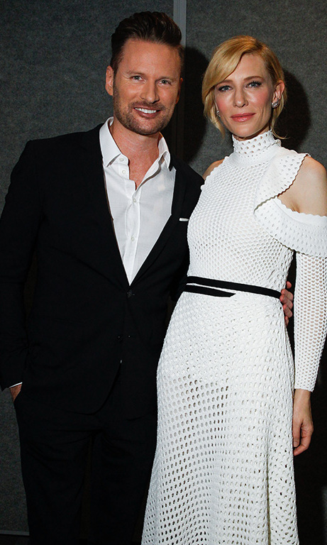 "October 5: Cate Blanchett and Brian Tyler attended the Los Angeles screening of ""TRUTH"" and enjoyed small bites from STK OUT. 