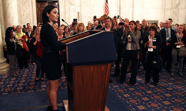 October 5: Demi Lovato took part in the Speak Up for Mental Health initiative on Capitol Hill in Washington D.C.