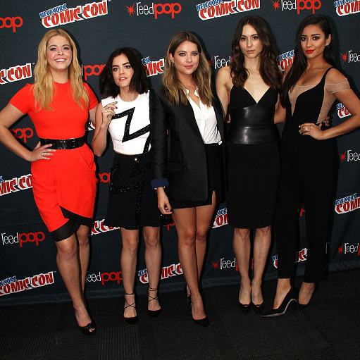 October 9: The ladies of 'Pretty Little Liars' took over New York City's Comic Con.