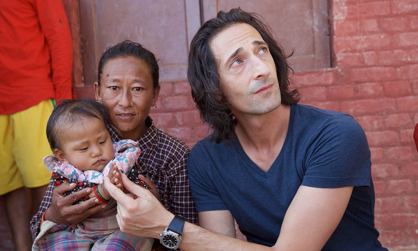 October 4: Bulgari Global Ambassador Adrien Brody traveled to Nepal to support Save the Children's programs six months after the deadly earthquake struck the region.