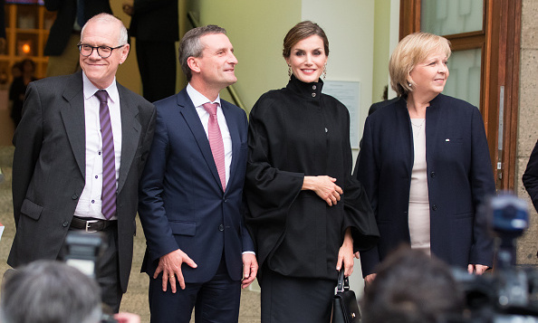 Queen Letizia made her way to Duesseldorf, Germany to attend the opening of the 'Zurbaran, Master The Details' exhibition at Kunstpalast Museum.