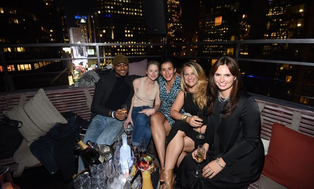 October 7: Meryl Streep's daughter Mamie Gummer mingled with friends as DJ Ruckus spun the grand opening party of The Rickey and PHD Terrace at Dream Midtown in NYC.