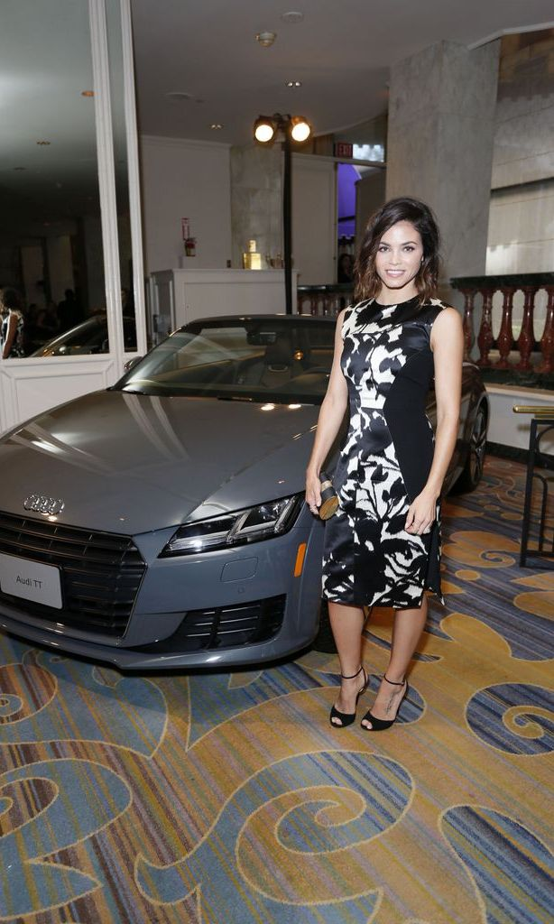 October 9: Jenna Dewan Tatum was styling in front of an Audi TT Roadster at the Variety Power of Women luncheon in Beverly Hills.