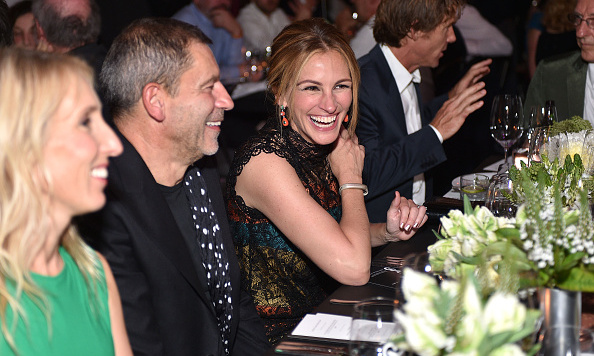 October 10: Julia Roberts wore Bottega Veneta to the Hammer Museum's Gala in the Garden in Westwood.