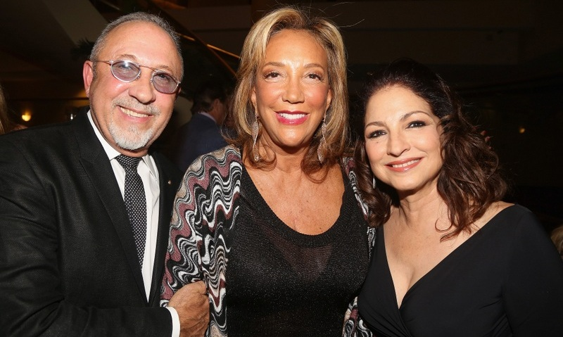 October 7: Gloria & Emilio Estefan joined Denise Rich at a special preview on behalf of Gabrielle's Angel Foundation of their Broadway musical 'On Your Feet The Story of Emilio & Gloria Estefan' in New York City.