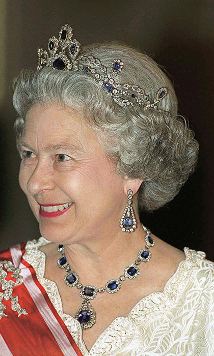 The Queen's Sapphire Tiara 