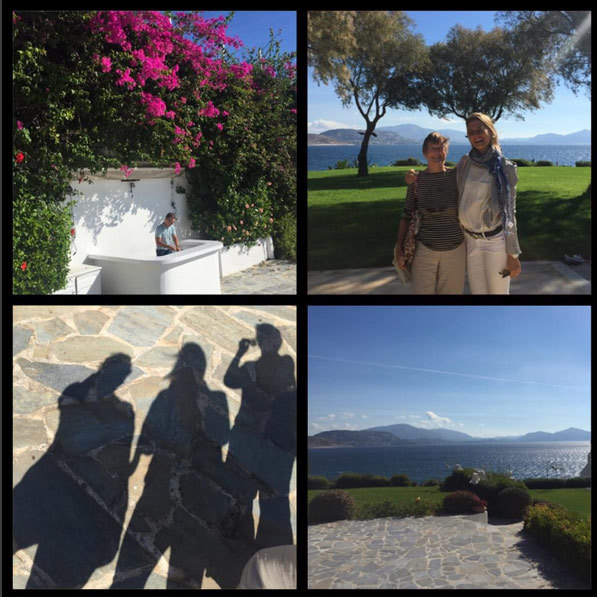 "Princess Tatiana of Greece and Denmark let us in on what she's up to, posting this collage on Instagram with the caption: ""Behind the scenes! Location scouting with the wonderful Diana Farr Louis (stories and foods of Greece) #cookbook #greece #fortheloveofgreece #happy.""