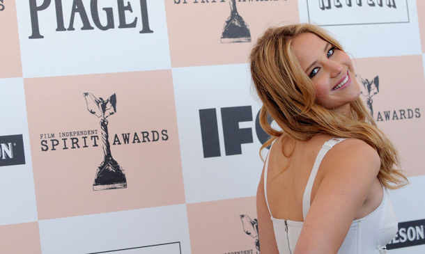 Jennifer flashed an over-the-shoulder smile at the 2011 Independent Spirit Awards, looking sweet as pie in white Dolce & Gabbana with her hair in loose, beachy waves. She was nominated for her role in 'Winter's Bone,' which also garnered the actress her first Oscar nomination.