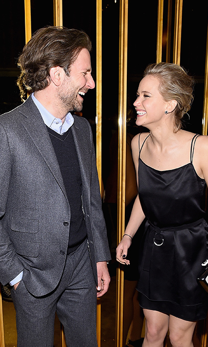 Best pals Jennifer Lawrence and Bradley Cooper shared a laugh at the official after party for their film 'Serena.' 