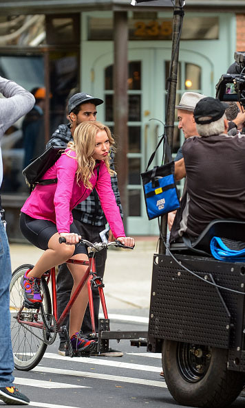 October 14: A girl on a bike! Katherine Heigl was caught filming her new show 'Doubt' in New York City. 