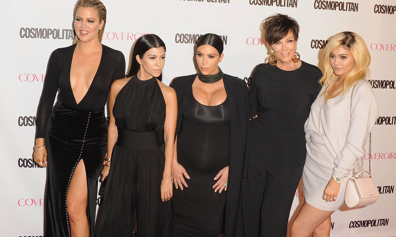 October 12: Cosmopolitan's first family, the Kardashian-Jenner clan, also joined in the fun. 