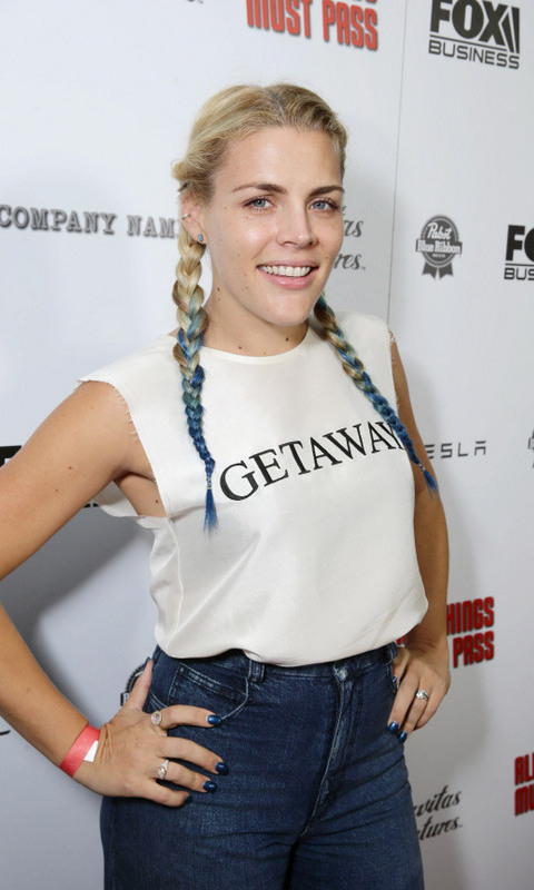 October 15: Busy Phillips was rocker chic during the 'All Things Must Pass' premiere party in L.A. where Eagles of Death Metal performed.