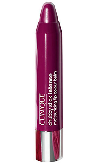If a matte purple isn't your thing, try out Clinique's ultra moisturizing Chubby Stick in this flattering berry shade. Its glossy bright finish offers a more subtle take on the dramatic trend and its balm formula makes it super quick and easy to apply on the go. <br>
