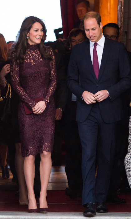 The following morning, Kate made an equally stylish statement as she and husband Prince William met the President. <br>