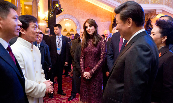 The royals and the President also met Hong Kong-born film star Jackie Chan. <br> Photo: Getty Images