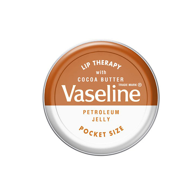 Vaseline Cocoa Butter Lip Therapy, $1.95 at your local drug store or pharmacy. <br>