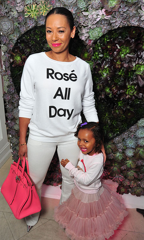 October 22: Mel B and her daughter spent some quality time during the WILDFOX Loves Coca-Cola capsule collection party in West Hollywood. 