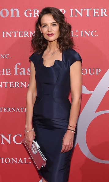 October 22: Katie Holmes looked sophisticated while attending the 2015 Fashion Group International's Night of Stars gala in New York City. 