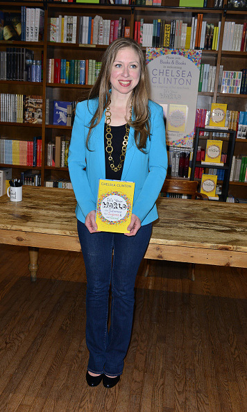 October 22: Book it! Chelsea Clinton signed copies of her new book 'It's Your World' in Coral Gables, Florida. 
