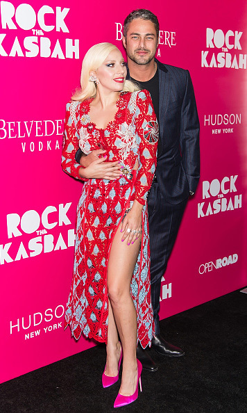 October 19: Rock 'n' Love! Lady Gaga and her fiancé Taylor Kinney were the perfect match during the 'Rock the Kasbah premiere in New York City. 