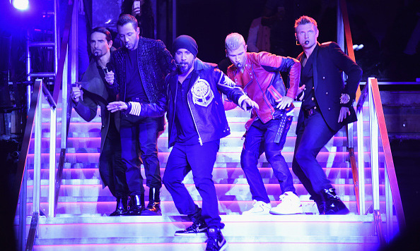 October 20: Backstreet's Back! The Backstreet Boys made the crowd swoon during their performance at the Balmain X H&M presentation celebration in NYC.