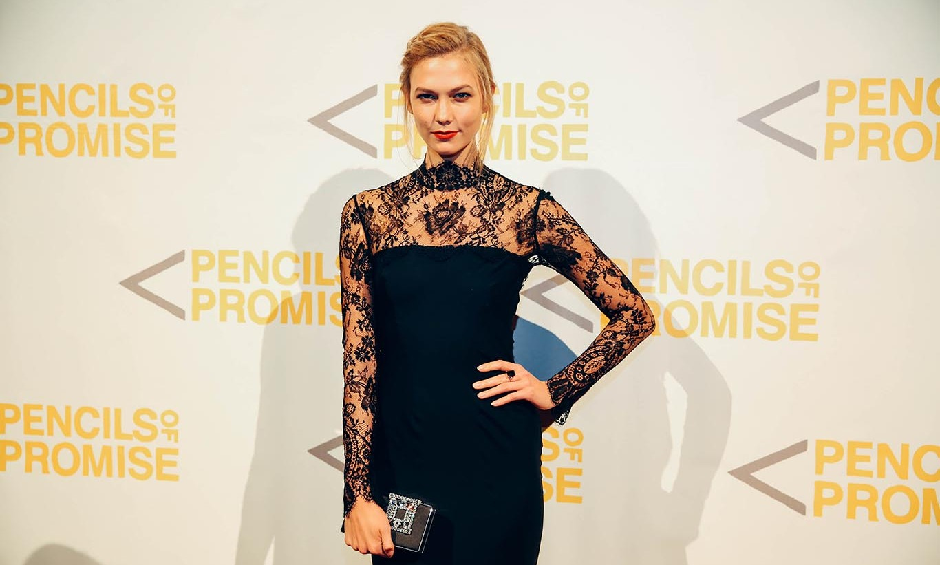 October 21: Karlie Kloss opted for a LBD during the 2015 Pencils of Promise gala at Cipriani in NYC.