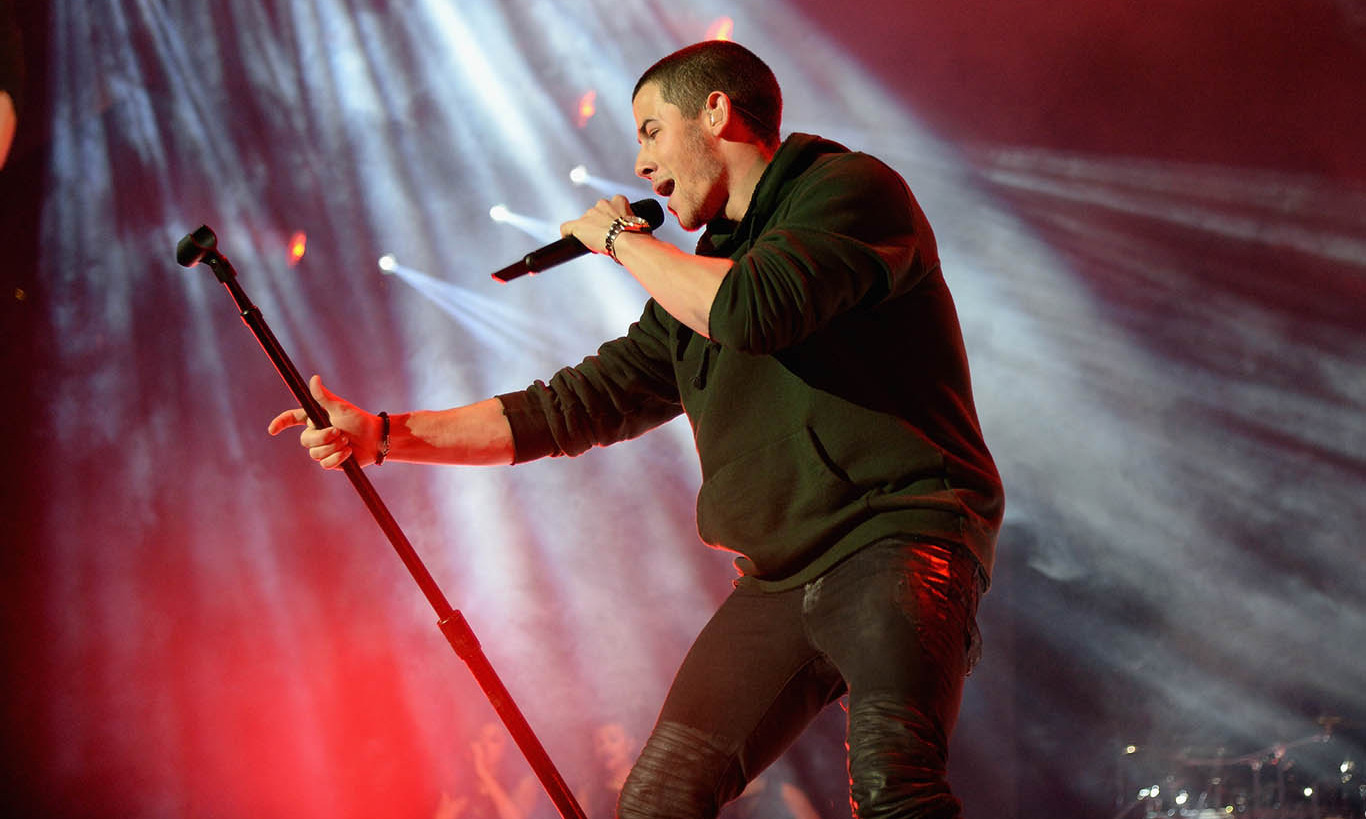 October 20: Nick Jonas kept the crowd dancing during his performance at the Tidal X 1020 concert in Brooklyn, New York. 