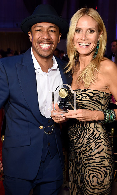 October 19: All smiles for a great cause! Nick Cannon and Heidi Klum attended the Gabrielle's Angel Foundation 2015 Angel Ball in NYC.  