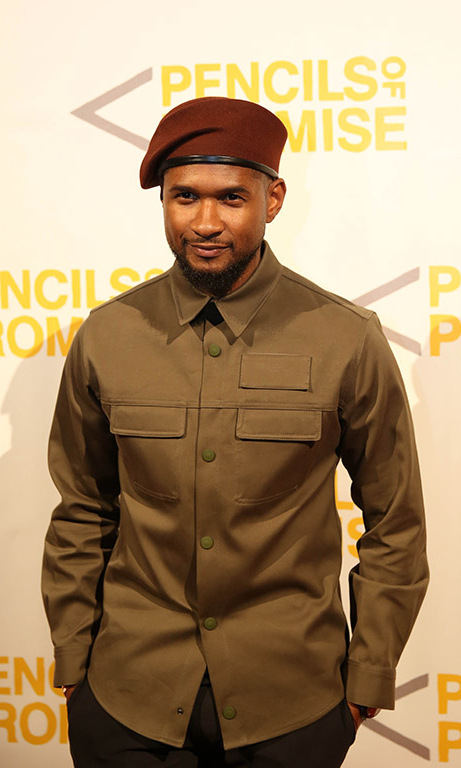 October 21: Usher arrived at the Pencils of Promise annual gala at Cipriani Wall Street in New York City. 