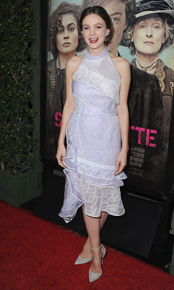 October 20: Carey Mulligan looked darling during the premiere of 'Suffragette' in L.A.   